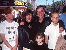 Mark and his family at the premiere of Star Wars:SE